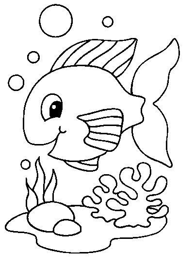 Coloriages poissons - Coloriage poisson rouge ...