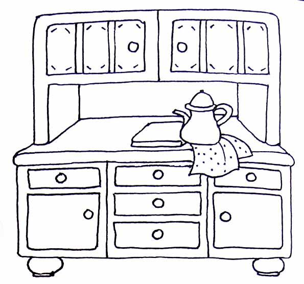 coloriage buffet. Black Bedroom Furniture Sets. Home Design Ideas