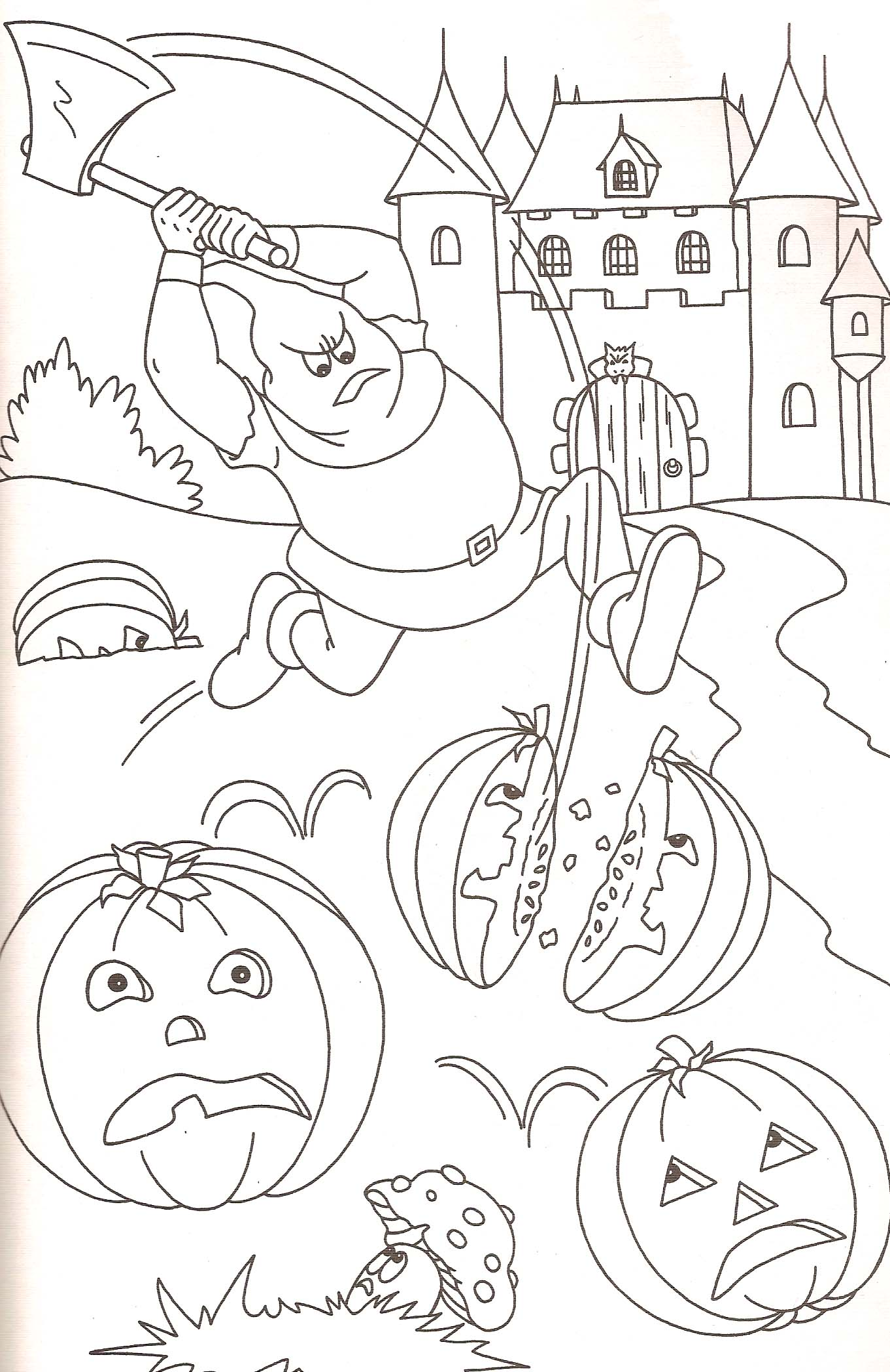 Coloriage citrouilles halloween - Citrouille coloriage ...