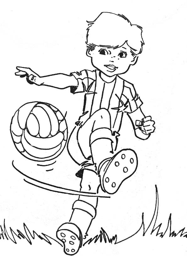 Coloriages enfants - Dessin a imprimer foot ...