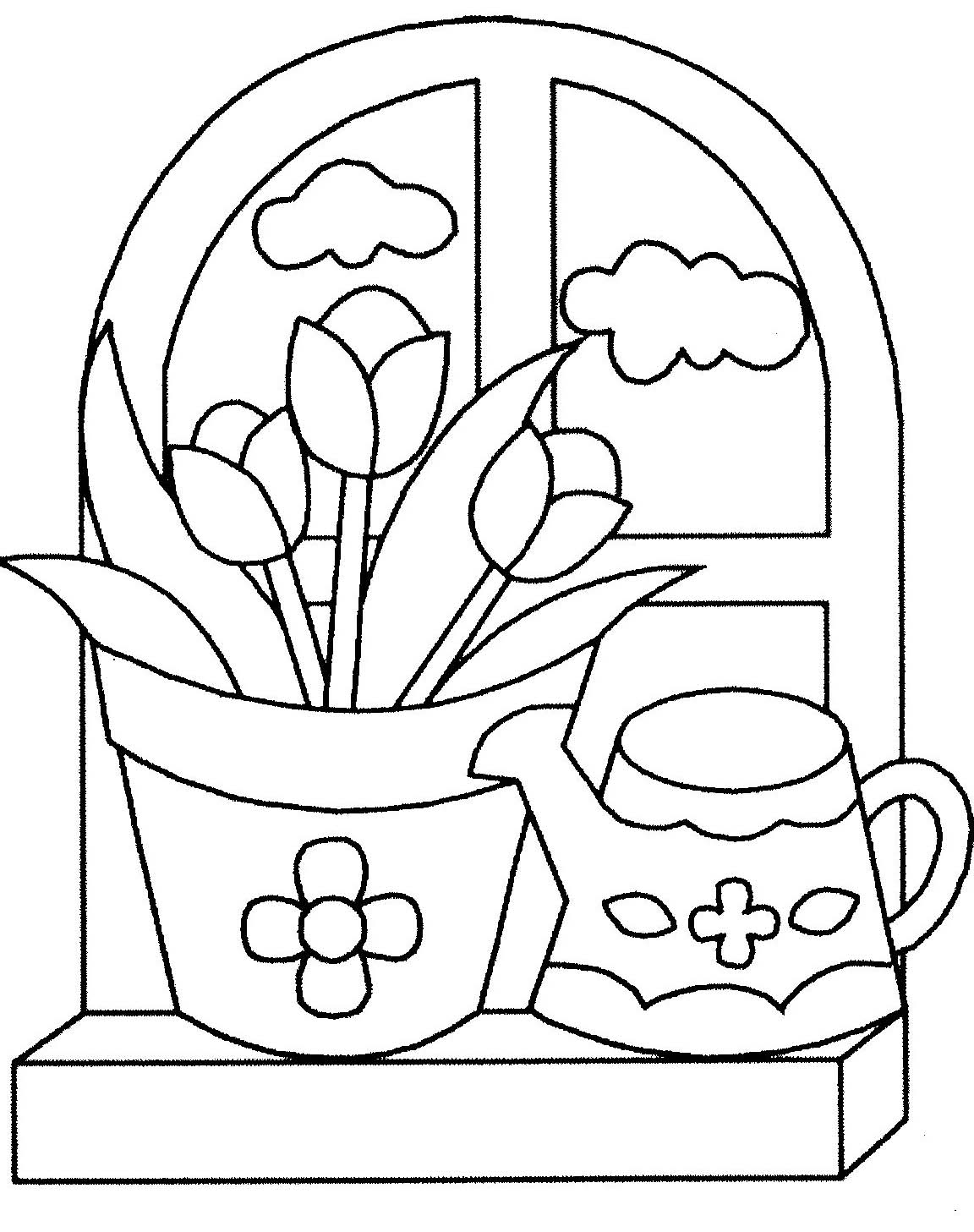 Coloriages fleurs - Model de fleur a dessiner ...
