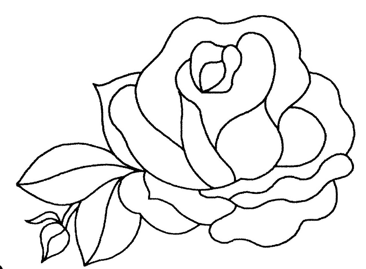Coloriage rose - Coloriage rose ...